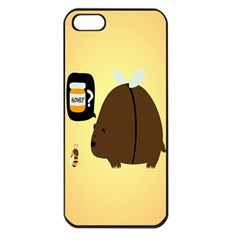 Bear Meet Bee Honey Animals Yellow Brown Apple Iphone 5 Seamless Case (black)
