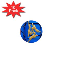 Animal Hare Window Gold 1  Mini Buttons (10 Pack)
