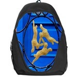 Animal Hare Window Gold Backpack Bag Front