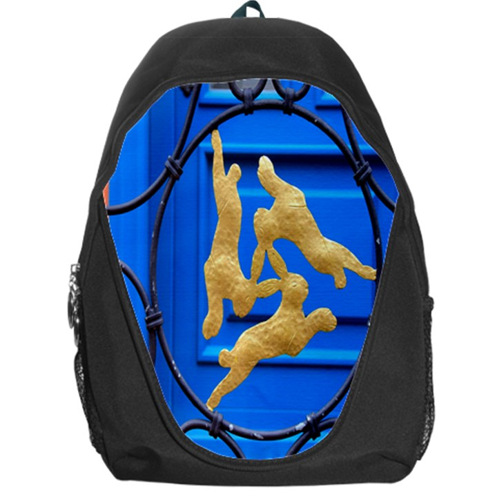 Animal Hare Window Gold Backpack Bag