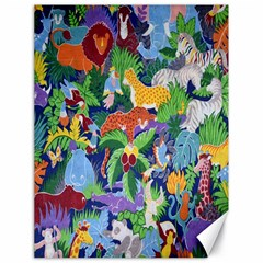 Animated Safari Animals Background Canvas 18  X 24   by Nexatart