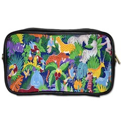 Animated Safari Animals Background Toiletries Bags 2 Side by Nexatart