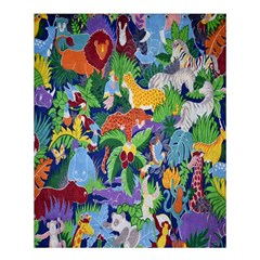 Animated Safari Animals Background Shower Curtain 60  X 72  (medium)  by Nexatart