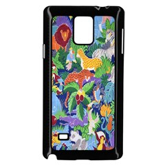 Animated Safari Animals Background Samsung Galaxy Note 4 Case (black) by Nexatart