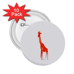 Animal Giraffe Orange 2 25  Buttons (10 Pack)