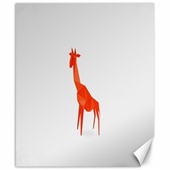 Animal Giraffe Orange Canvas 20  X 24   by Alisyart