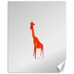 Animal Giraffe Orange Canvas 11  X 14