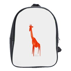 Animal Giraffe Orange School Bags(large)