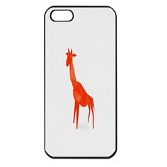 Animal Giraffe Orange Apple Iphone 5 Seamless Case (black)