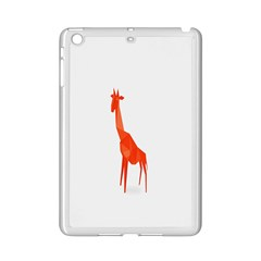 Animal Giraffe Orange Ipad Mini 2 Enamel Coated Cases