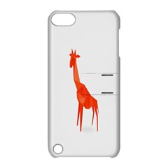 Animal Giraffe Orange Apple Ipod Touch 5 Hardshell Case With Stand by Alisyart
