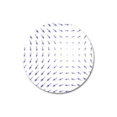 Arrows Blue Magnet 3  (round)
