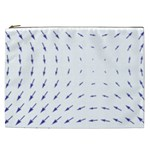 Arrows Blue Cosmetic Bag (XXL)  Front