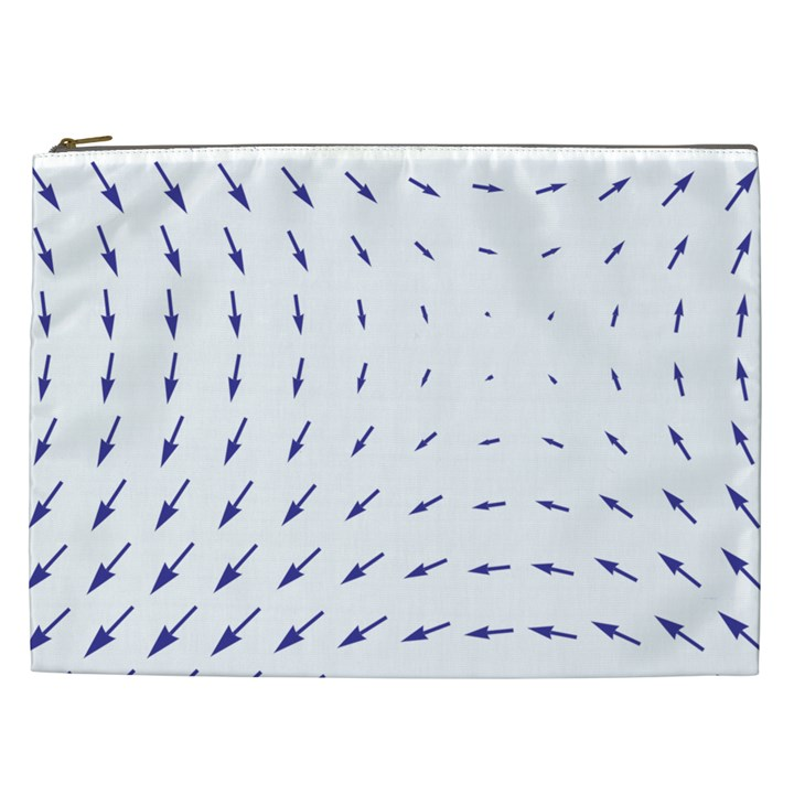 Arrows Blue Cosmetic Bag (XXL)