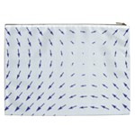 Arrows Blue Cosmetic Bag (XXL)  Back