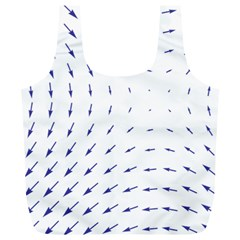 Arrows Blue Full Print Recycle Bags (l)