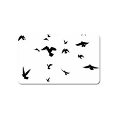 Bird Fly Black Magnet (name Card)