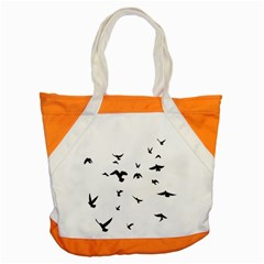 Bird Fly Black Accent Tote Bag