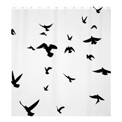 Bird Fly Black Shower Curtain 66  X 72  (large)