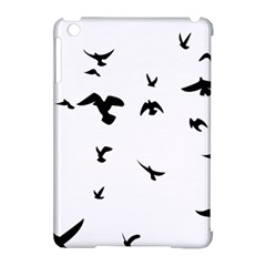 Bird Fly Black Apple Ipad Mini Hardshell Case (compatible With Smart Cover)
