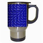 Calm Wave Blue Flag Travel Mugs (White) Right
