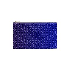 Calm Wave Blue Flag Cosmetic Bag (small)