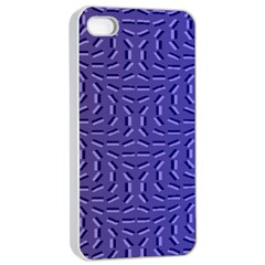 Calm Wave Blue Flag Apple Iphone 4/4s Seamless Case (white) by Alisyart