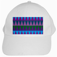 Blue Greens Aqua Purple Green Blue Plums Long Triangle Geometric Tribal White Cap