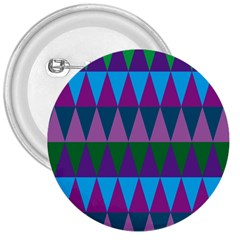 Blue Greens Aqua Purple Green Blue Plums Long Triangle Geometric Tribal 3  Buttons