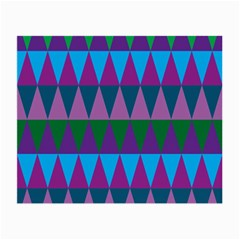 Blue Greens Aqua Purple Green Blue Plums Long Triangle Geometric Tribal Small Glasses Cloth