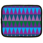 Blue Greens Aqua Purple Green Blue Plums Long Triangle Geometric Tribal Netbook Case (Large) Front