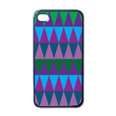 Blue Greens Aqua Purple Green Blue Plums Long Triangle Geometric Tribal Apple Iphone 4 Case (black) by Alisyart
