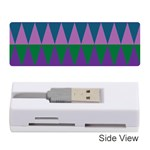 Blue Greens Aqua Purple Green Blue Plums Long Triangle Geometric Tribal Memory Card Reader (Stick)  Front