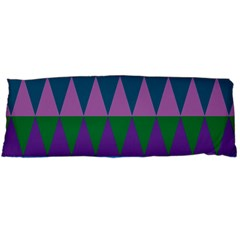 Blue Greens Aqua Purple Green Blue Plums Long Triangle Geometric Tribal Body Pillow Case Dakimakura (two Sides)