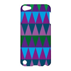 Blue Greens Aqua Purple Green Blue Plums Long Triangle Geometric Tribal Apple Ipod Touch 5 Hardshell Case by Alisyart