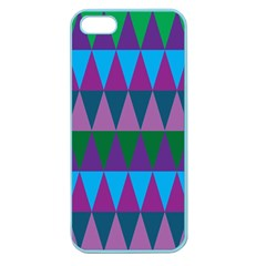 Blue Greens Aqua Purple Green Blue Plums Long Triangle Geometric Tribal Apple Seamless Iphone 5 Case (color) by Alisyart
