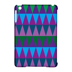 Blue Greens Aqua Purple Green Blue Plums Long Triangle Geometric Tribal Apple Ipad Mini Hardshell Case (compatible With Smart Cover) by Alisyart
