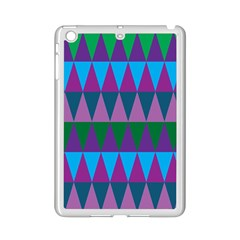 Blue Greens Aqua Purple Green Blue Plums Long Triangle Geometric Tribal Ipad Mini 2 Enamel Coated Cases