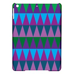 Blue Greens Aqua Purple Green Blue Plums Long Triangle Geometric Tribal Ipad Air Hardshell Cases by Alisyart