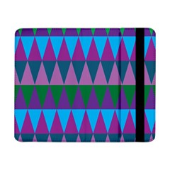 Blue Greens Aqua Purple Green Blue Plums Long Triangle Geometric Tribal Samsung Galaxy Tab Pro 8 4  Flip Case