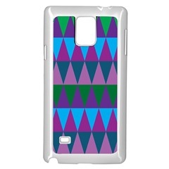 Blue Greens Aqua Purple Green Blue Plums Long Triangle Geometric Tribal Samsung Galaxy Note 4 Case (white) by Alisyart