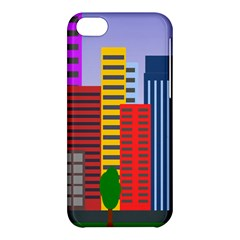 City Skyscraper Buildings Color Car Orange Yellow Blue Green Brown Apple Iphone 5c Hardshell Case by Alisyart