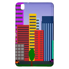 City Skyscraper Buildings Color Car Orange Yellow Blue Green Brown Samsung Galaxy Tab Pro 8 4 Hardshell Case