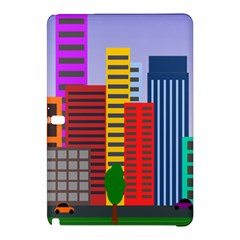 City Skyscraper Buildings Color Car Orange Yellow Blue Green Brown Samsung Galaxy Tab Pro 12 2 Hardshell Case