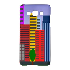 City Skyscraper Buildings Color Car Orange Yellow Blue Green Brown Samsung Galaxy A5 Hardshell Case  by Alisyart