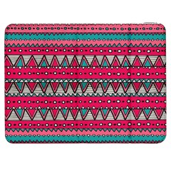 Aztec Geometric Red Chevron Wove Fabric Samsung Galaxy Tab 7  P1000 Flip Case