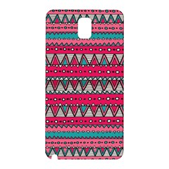 Aztec Geometric Red Chevron Wove Fabric Samsung Galaxy Note 3 N9005 Hardshell Back Case
