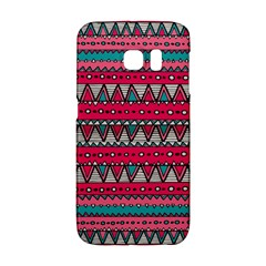 Aztec Geometric Red Chevron Wove Fabric Galaxy S6 Edge