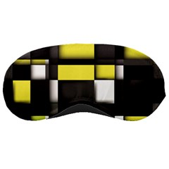 Color Geometry Shapes Plaid Yellow Black Sleeping Masks