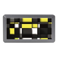 Color Geometry Shapes Plaid Yellow Black Memory Card Reader (mini) by Alisyart